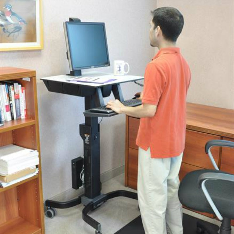 Ergotron Workfit C Single Ld Sit Stand Workstation 24
