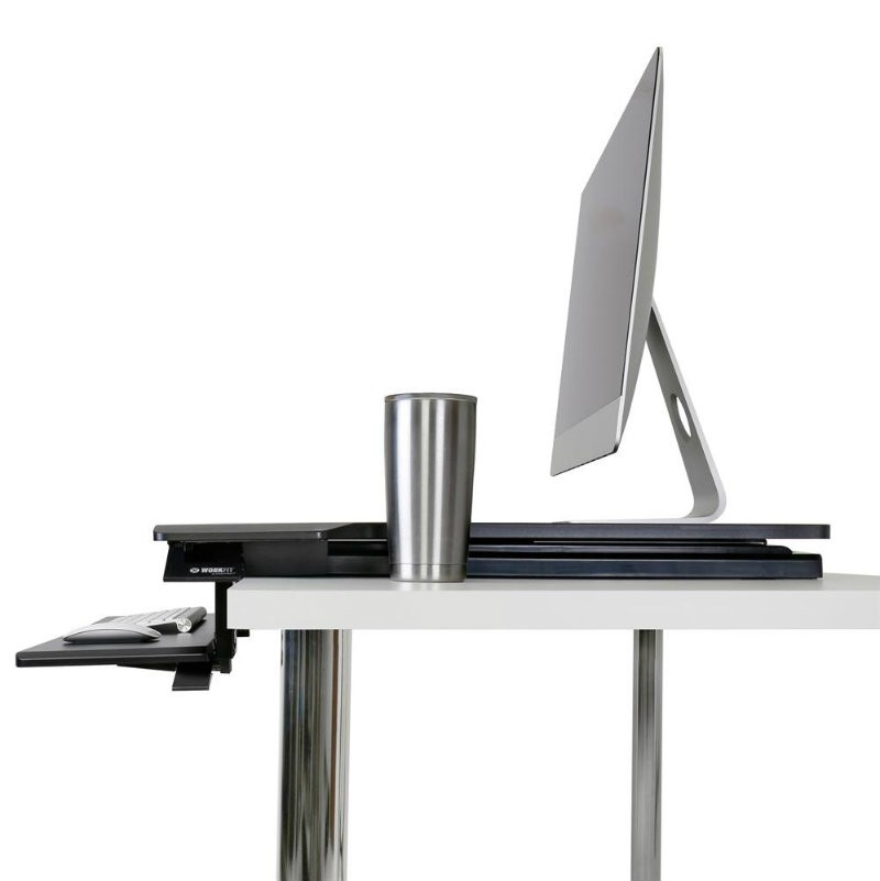Ergotron WorkFit-TX Standing Desk Converter with Height Adjustable Keyboard