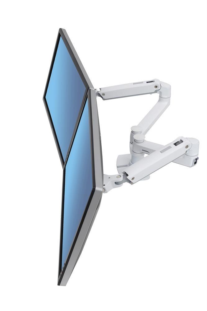 ergotron lx dual monitor arm side by side 45 491 216